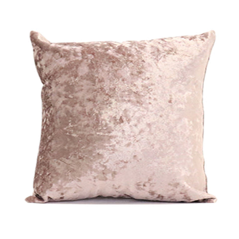 Crushed Velvet Pillow Cover - Mauve 3pk