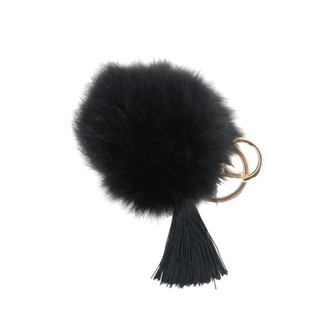 Mini Black Pom w/Tassel
