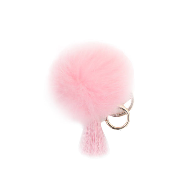Mini Light Pink Pom w/Tassel - 3pk
