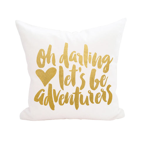 Oh Darling Pillow Let's Be Adventurers Cover