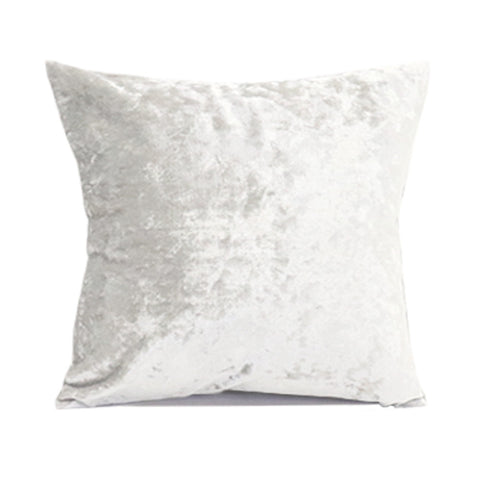 Crushed Velvet Pillow Cover - Oyster