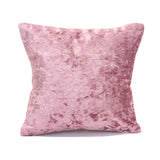 Crushed Velvet Pillow Cover - Blush Pink