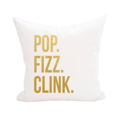 Pop Fizz Clink Print Pillow Cover