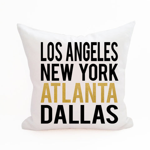 Rep Your City Pillow Cover