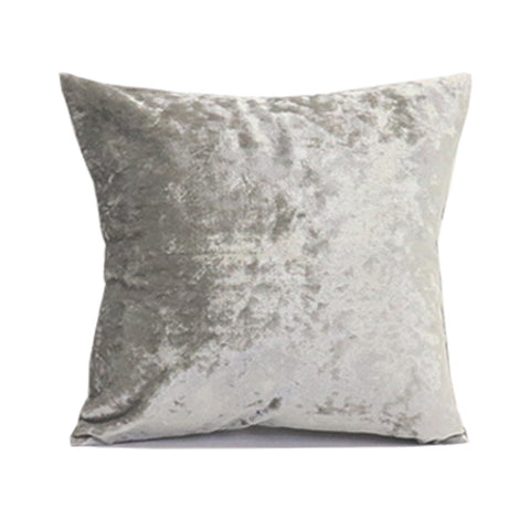 Crushed Velvet Pillow Cover - Silver