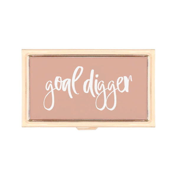 Gold Business Card Holder - Goal Digger