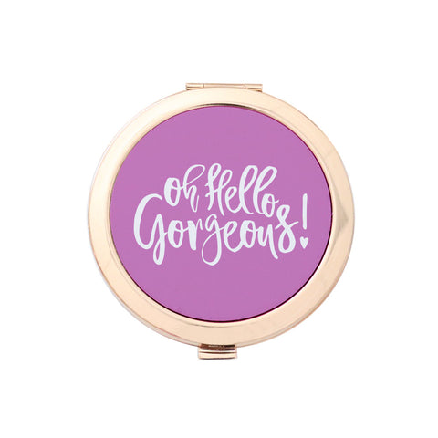 Gold Compact Mirror - Oh Hello Gorgeous