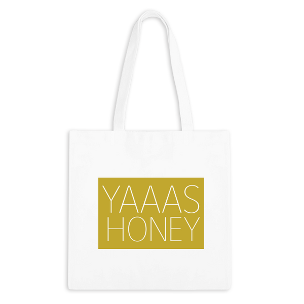 Yaaas Honey Zippered Tote Bag - 1pk