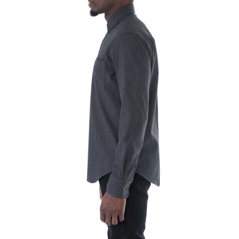 Graphite Herringbone Shirt