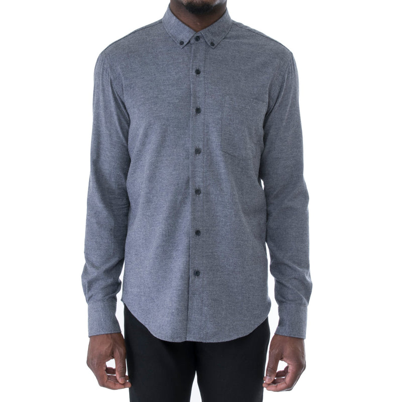 Steel Blue Light Flannel Shirt