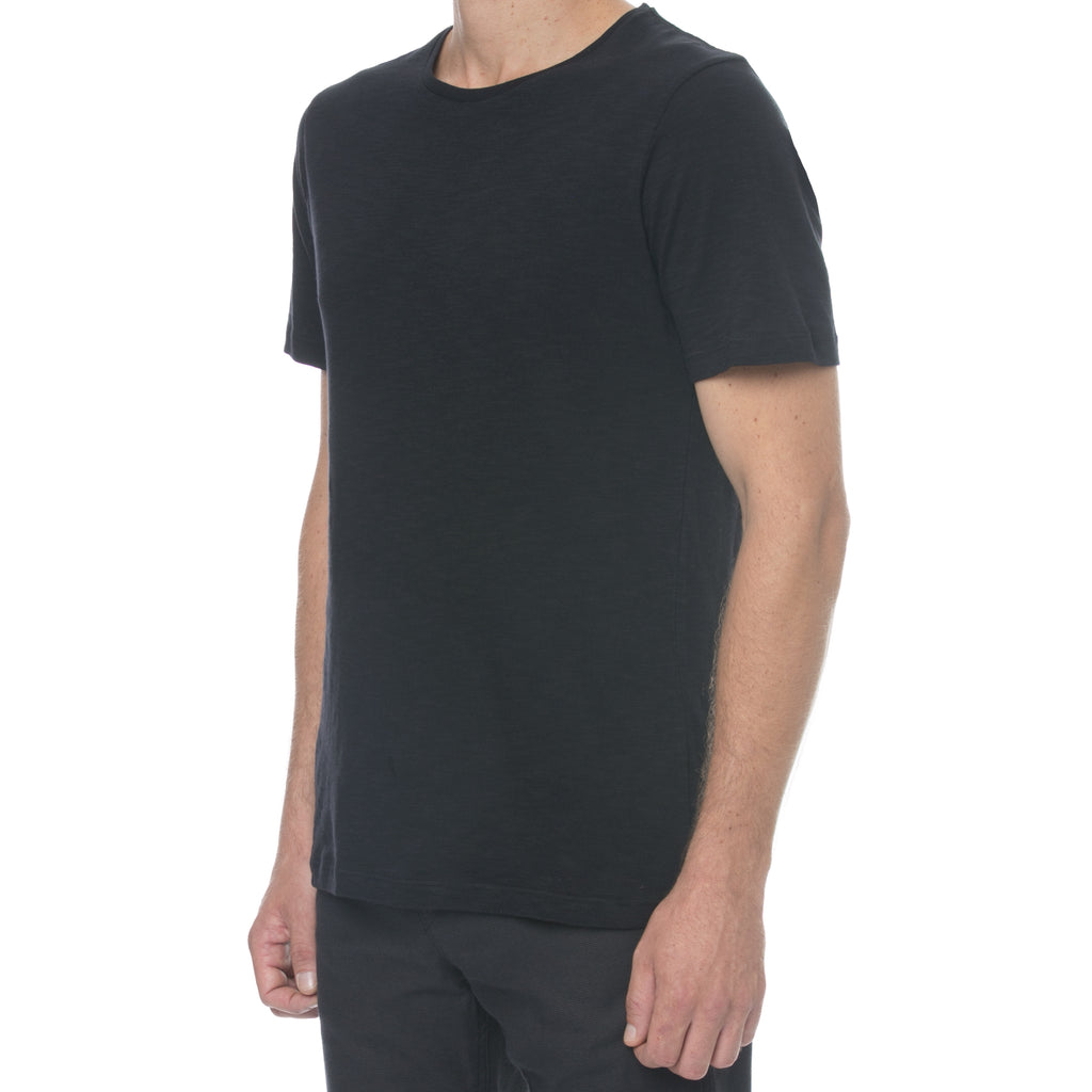 Black Slub T-Shirt