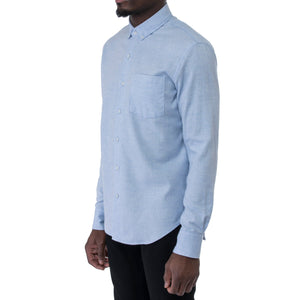 Light Blue Flannel Pique Shirt