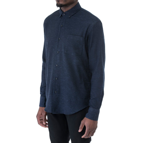 Navy Dot Long Sleeve Shirt