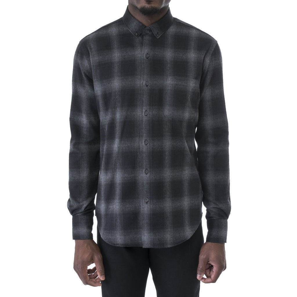 Charcoal Heather Plaid Flannel Shirt