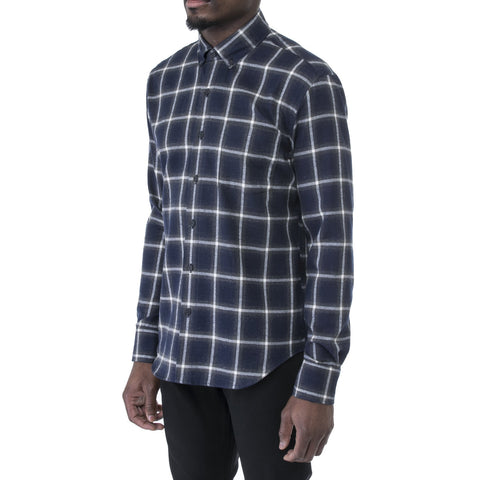 Navy Light Flannel Shirt