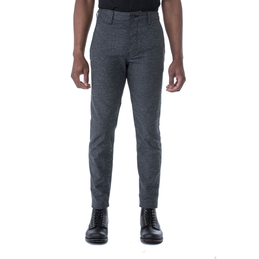 Charcoal Nep Stretch HT Chino Trouser