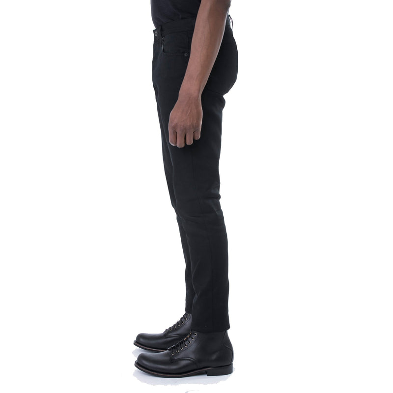 Hard Taper Black Stretch 12 oz. Denim