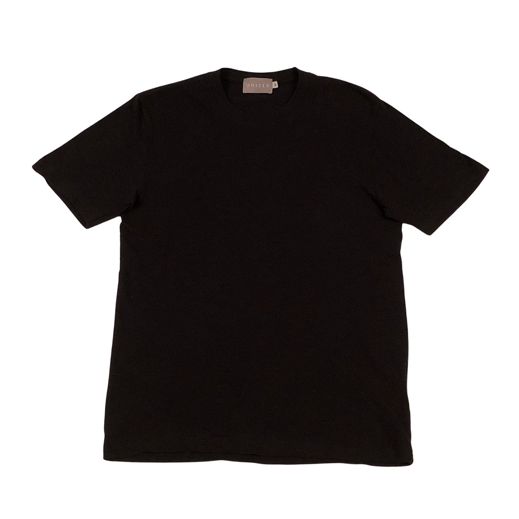 Black Cotton Slub T-Shirt