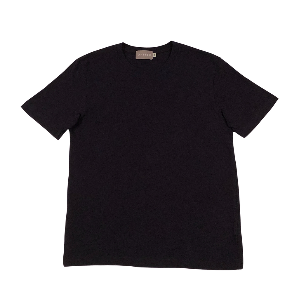 Midnight Navy Cotton Slub T-Shirt