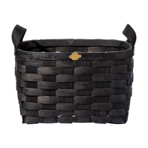 Wooden Rectangular Basket, Black