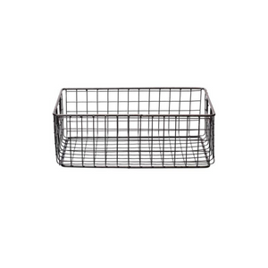 Industrial Wire Rectangular Basket, Medium