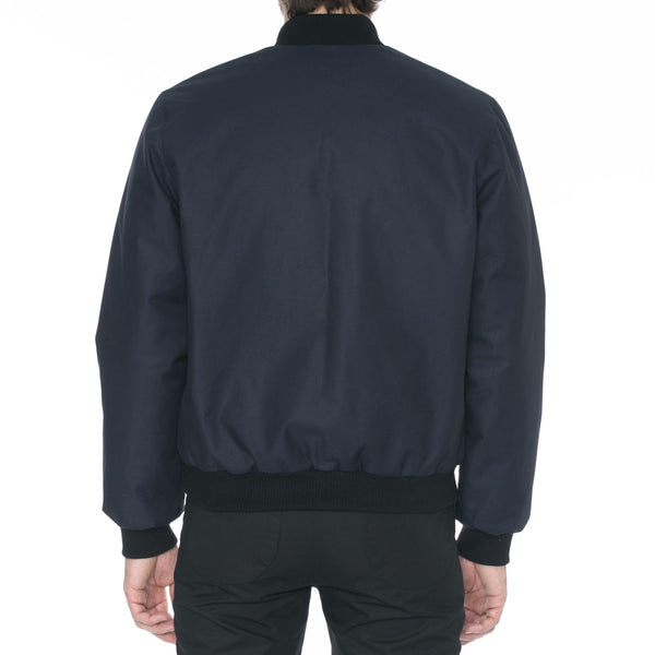 Navy Bonded Cotton Bomber