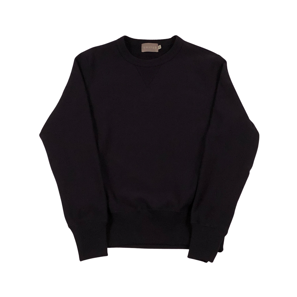 Black 20 oz Cotton Terry Crewneck Sweatshirt