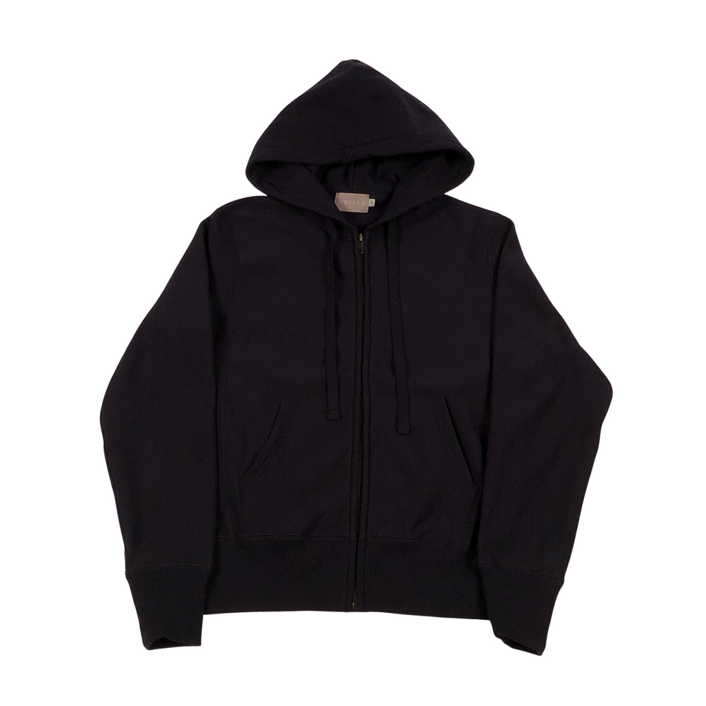 Midnight Navy 20 oz Cotton Terry Full Zip Hoodie