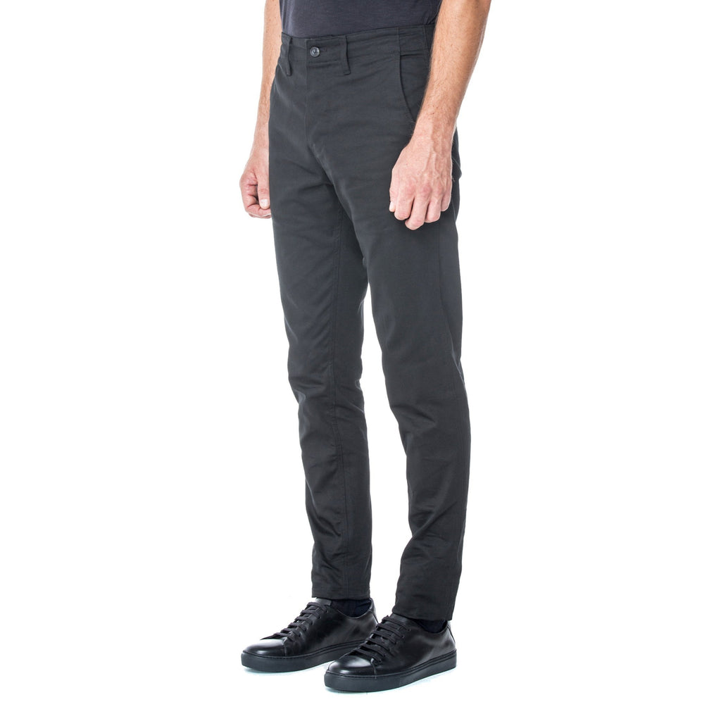 Black Sateen HT Chino Trouser