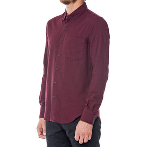 Bordeaux Light Flannel Long Sleeve Shirt