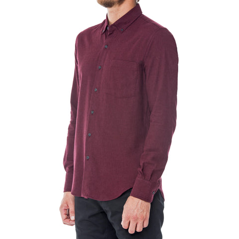 Charcoal Dobby Long Sleeve Shirt