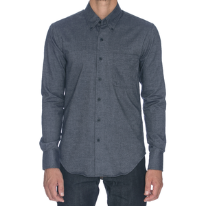 Steel Brushed Twill Long Sleeve Shirt