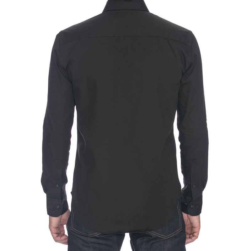 Charcoal Oxford Long Sleeve Shirt
