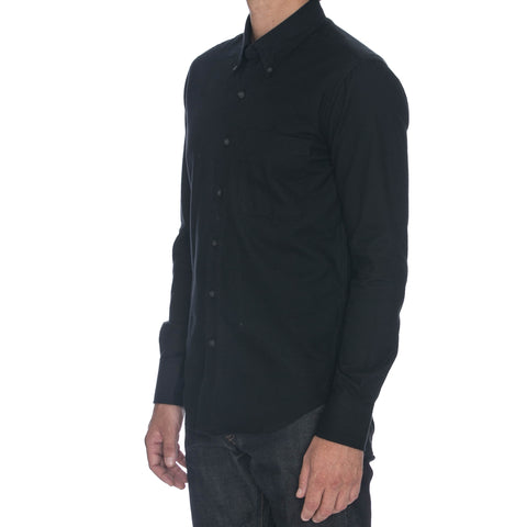 Navy Dobby Long Sleeve Shirt