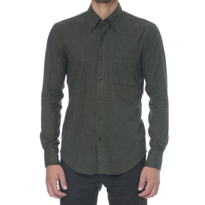 Olive Light Flannel Long Sleeve Shirt
