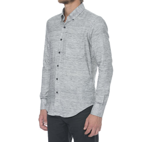Charcoal Nep Long Sleeve Shirt