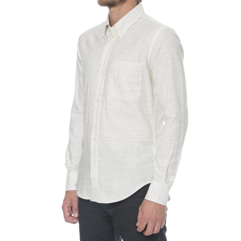 Heather Mélange Twill Long Sleeve Shirt