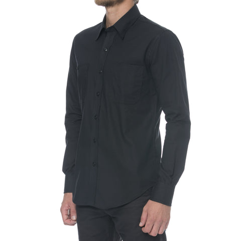 Charcoal Brushed Kersey Long Sleeve Shirt