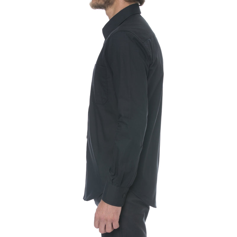 Black Workwear Long Sleeve Shirt - Sydney's, Toronto, Bespoke Suit, Made-to-Measure, Custom Suit,