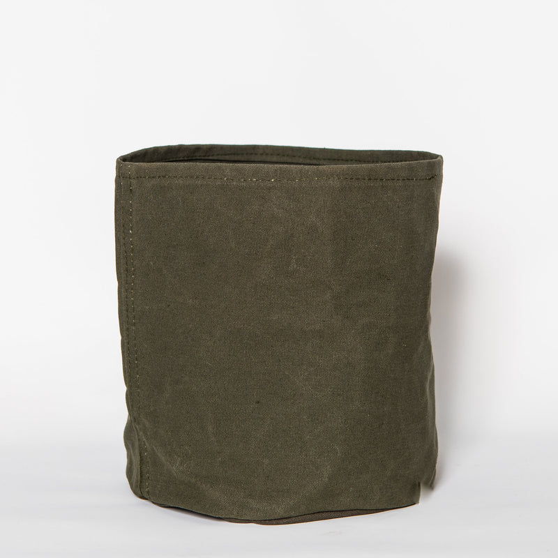 Large Waxed Canvas Pot Cover, Olive