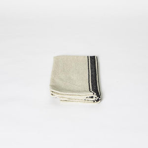 India Cloth Table Napkin, Black Stripe