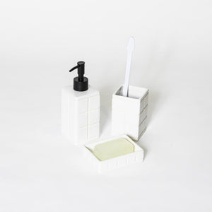 Ceramic Tile Toothbrush Stand