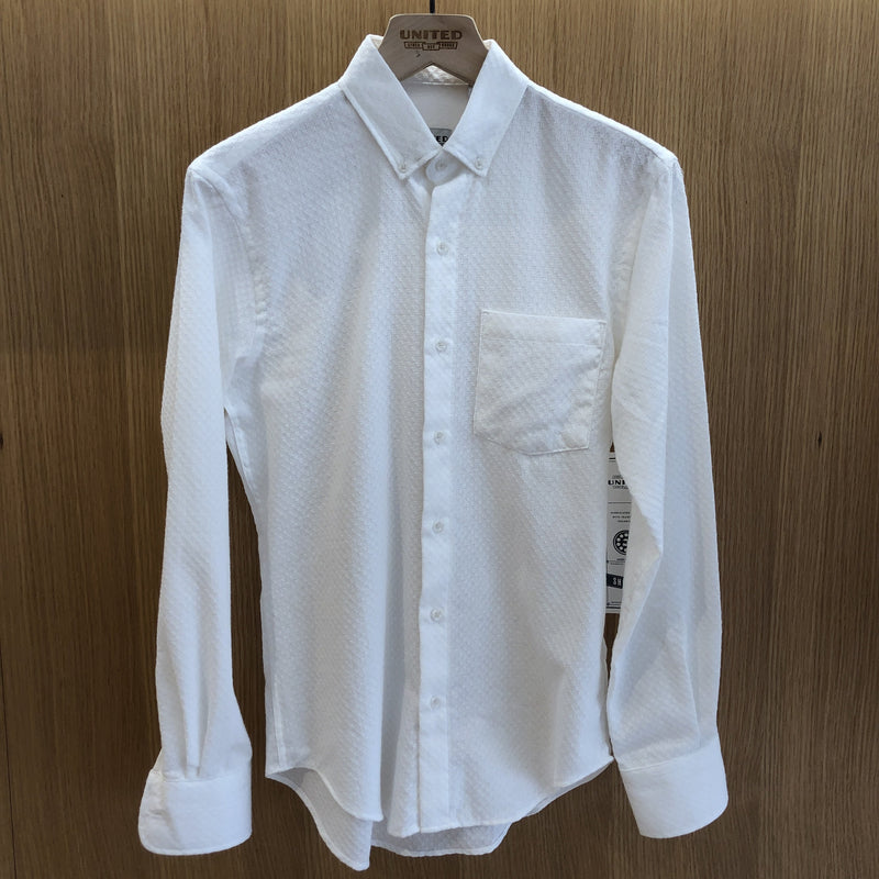 White Circle Jacquard Shirt