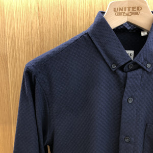 Navy Circle Jacquard Shirt