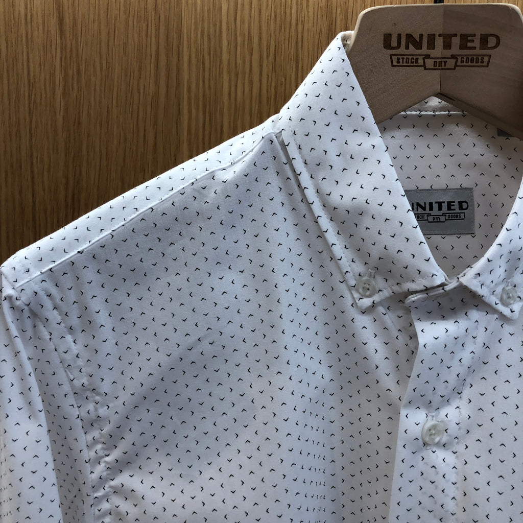 White Broken Diamond Short Sleeve Shirt