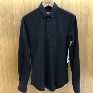 Navy Seersucker Tonal Stripe Shirt