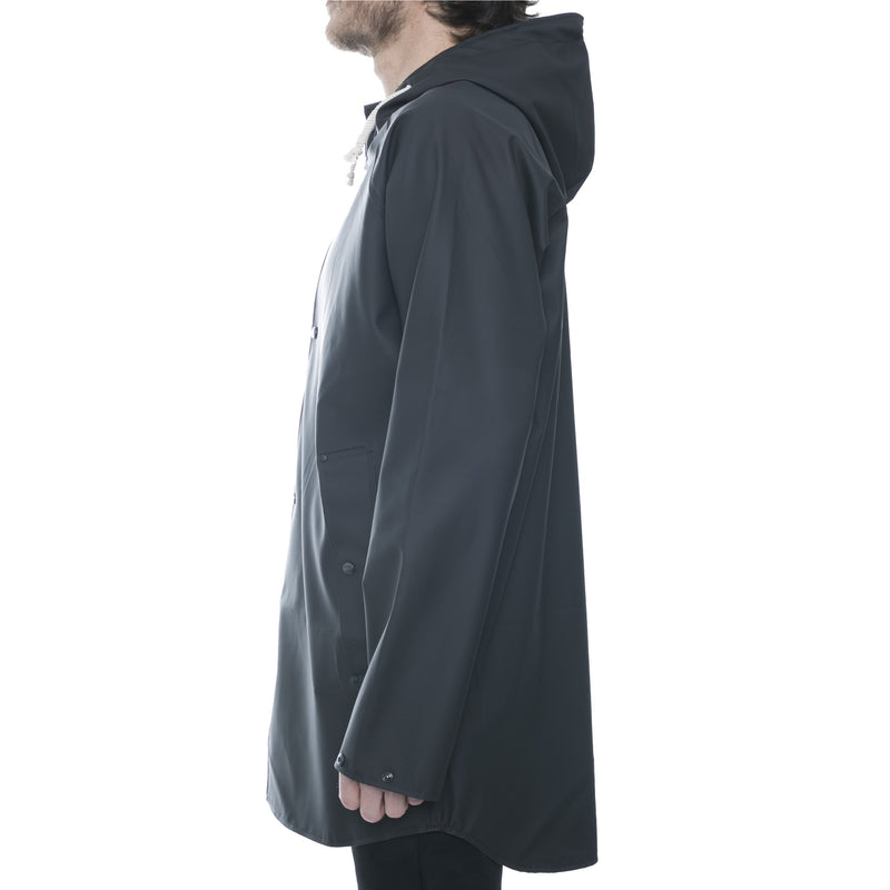 Black Hooded Raincoat - Sydney's, Toronto, Bespoke Suit, Made-to-Measure, Custom Suit,
