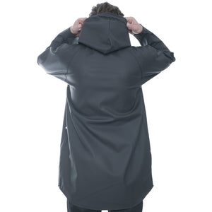 Elka Black Hooded Raincoat