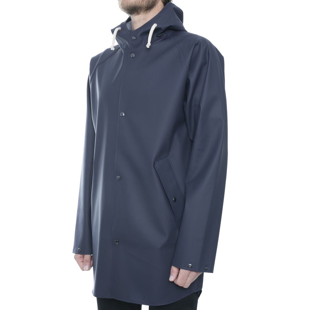 Blue Hooded Raincoat - Sydney's, Toronto, Bespoke Suit, Made-to-Measure, Custom Suit,