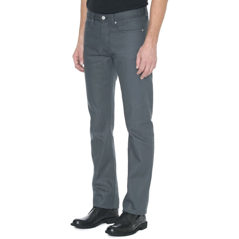 Narrow Fit Grey Selvage Denim